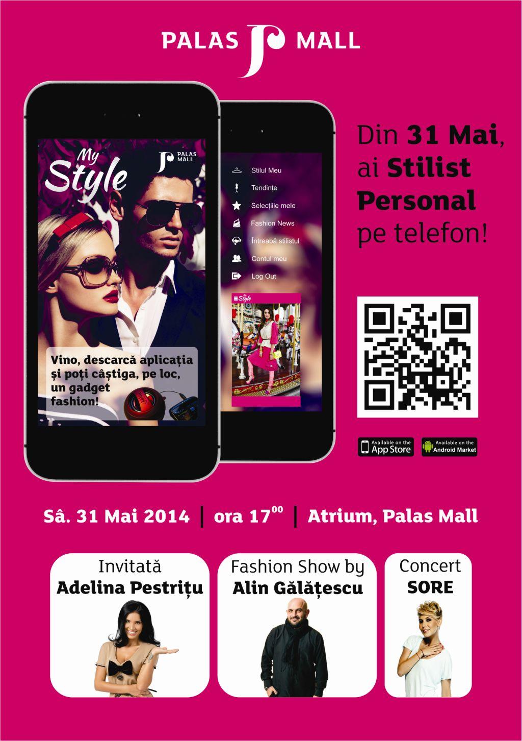 """Palas lanseaza """"My Style"""", prima aplicatie de fashion pentru smartphone a unui Mall din Romania"""