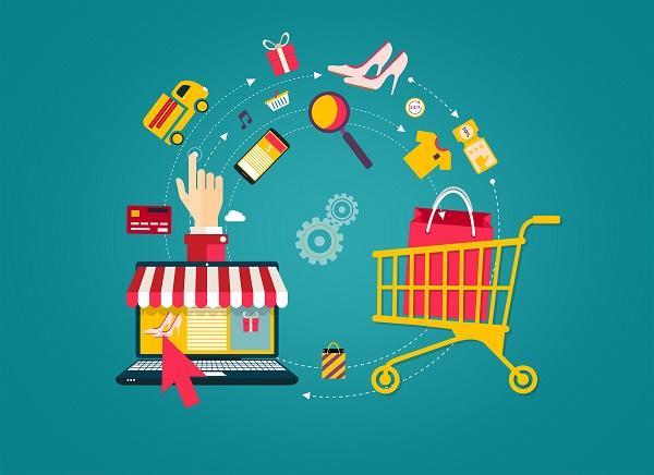 Online Shopping – Laptop to Shopping Cart