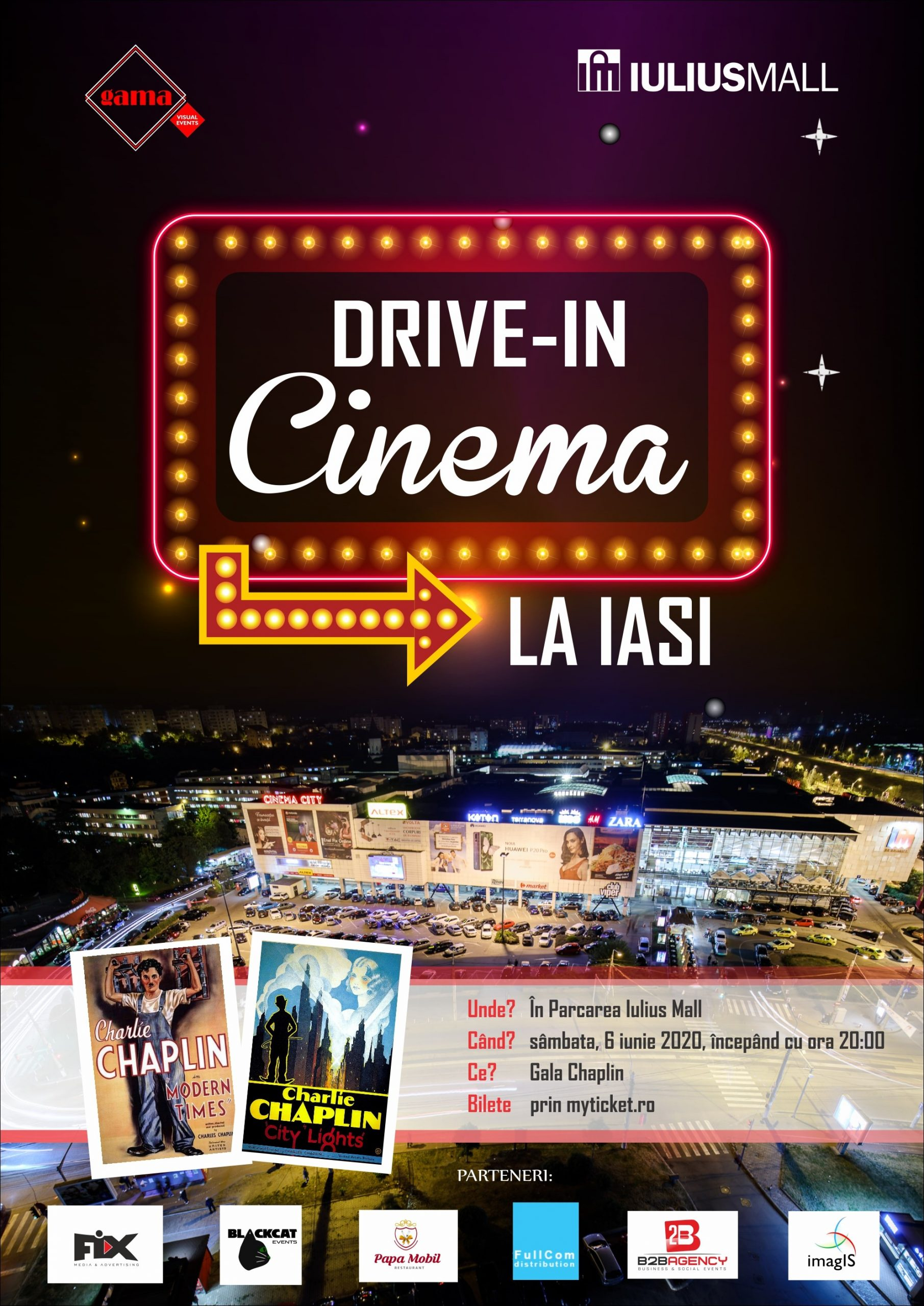 Drive-in cinema la Iulius Mall Iasi