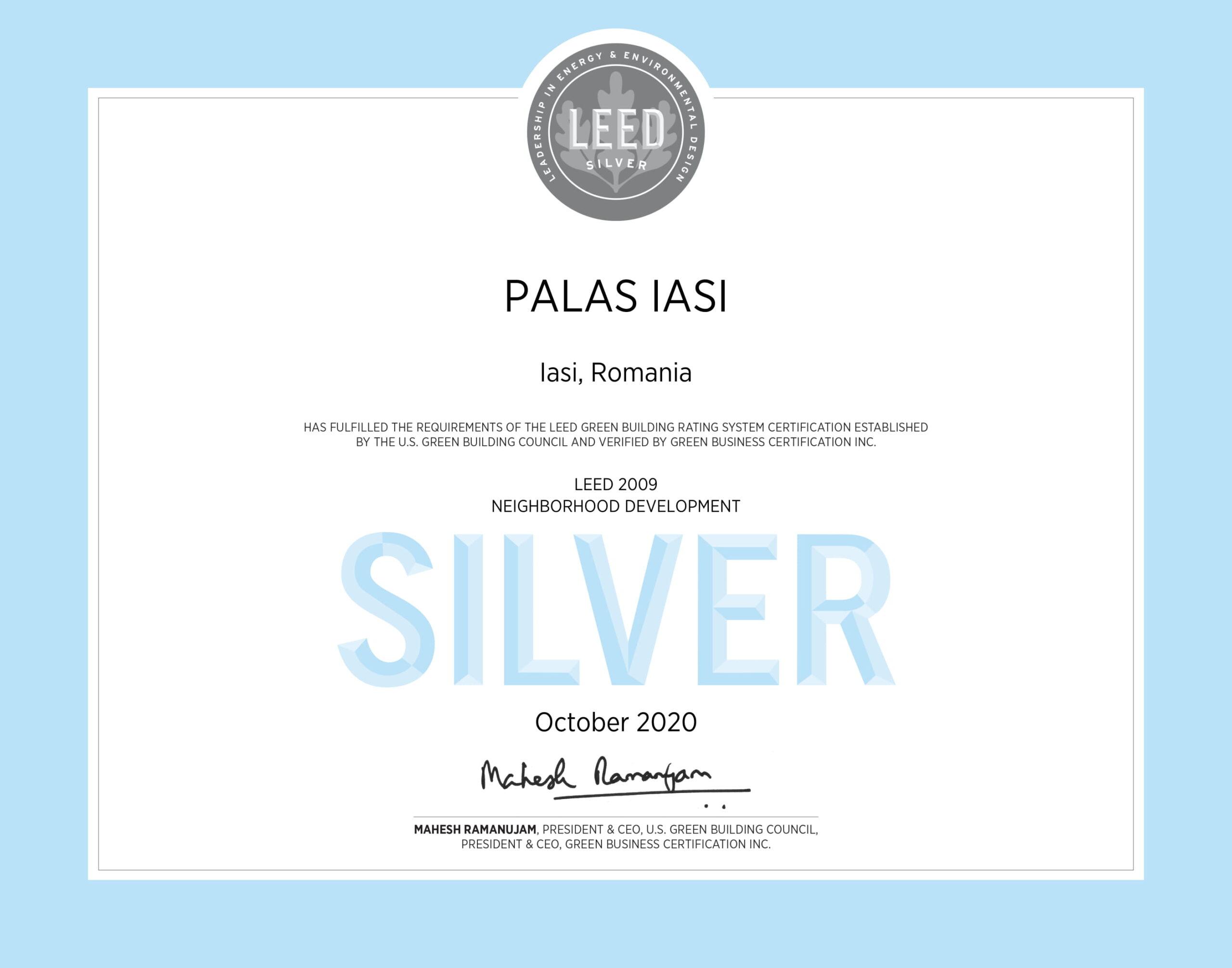 Palas Iasi LEED Neighborhood Development Silver