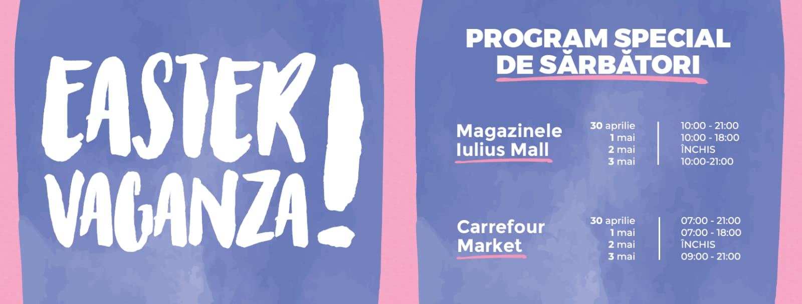 Program Paste – Iulius Mall Iasi